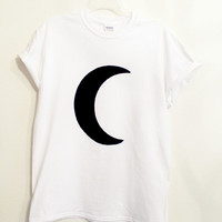 white crescent moon shirt