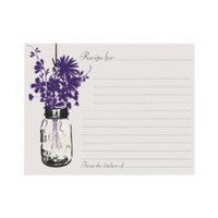Mason Jar Recipe Card Personalized Invites