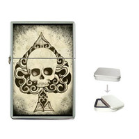 Zippo like lighter Death Card Ace of Spades