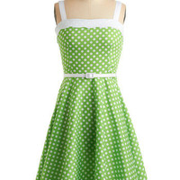 Lime In Love Dress | Mod Retro Vintage Printed Dresses | ModCloth.com