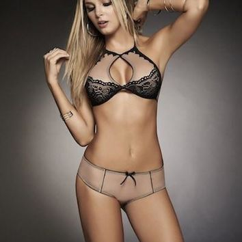 Nude Keyhole Bra and Panty