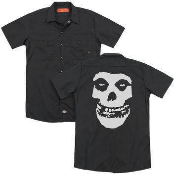 Misfits - Fiend Skull (Back Print) Adult Work Shirt