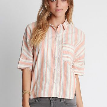 Coral Springs Stripe Button Up Shirt | Ruche