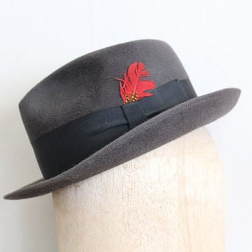 vintage 1950s fedora // 50s felt Stetson hat // a by FoxAndSeagull