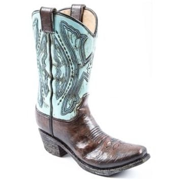 Blue & Brown Resin Cowboy Boot Vase | Shop Hobby Lobby