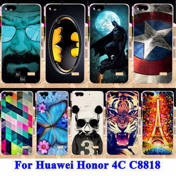 Soft TPU Hard PC Phone Cases For Huawei Honor 4C C8818 Honor5 Housing Covers For Huawei G Play Mini Honor4C Back Shell Skin Bags