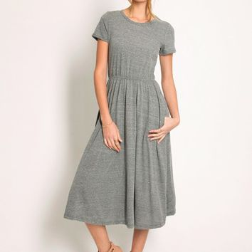 Eastern Shore Midi Dress In Charcoal