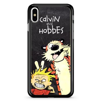 Calvin And Hobbes Black iPhone X Case