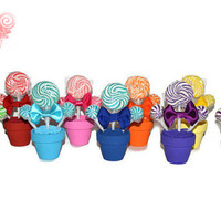 100 Custom Mini Lollipop Arrangements, Wedding Favors, Birthday Favors, Party Favor, Shower Favor, Baby shower, Bridal Shower, Candy Favors