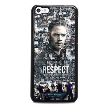 FAST FURIOUS 7 PAUL WALKER iPhone 5C Case Cover