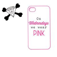 mean girls inspired - On Wednesdays We Wear Pink - on iphone 4, iphone 4s, iphone 5 - plastic