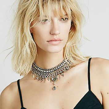 Free People Womens Eve Metal Choker