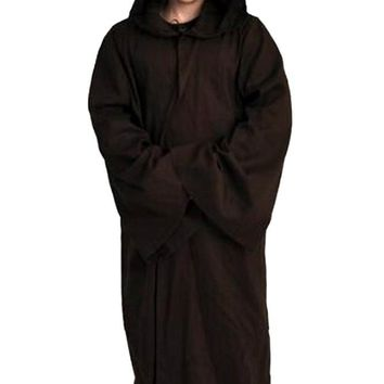 New Star Wars Jedi Cosplay Costume Adult Black Jedi Robe Hoodie Cloak Men Halloween Cosplay Star Wars Darth Vader Costume
