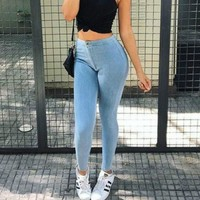 Slim Women's Fashion Casual Skinny Pants [8077548225]