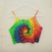 Rainbow Tie-dye crop top