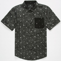 Shouthouse Superbanks Boys Shirt Black  In Sizes