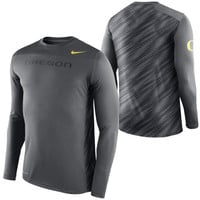 Oregon Ducks Nike Speed Long Sleeve Performance T-Shirt – Anthracite