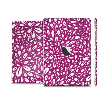 The Purple & White Floral Sprout Skin Set for the Apple iPad Mini 4