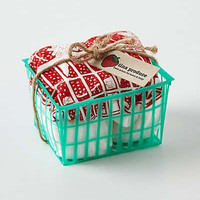 Anthropologie - Berry Dishtowel Basket