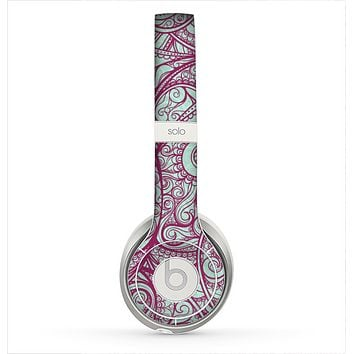 The Vector Purple Thin Laced Skin for the Beats by Dre Solo 2 Headphones
