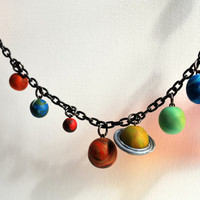 Solar System Bracelet by nappyhappy on Etsy