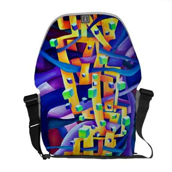 Art Deco pattern - rainbow abstract Courier Bag