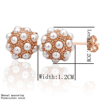 Best Friends jewerly 18K Gold Plated Earing ev ball stud earrings brincos SMTPE 14 MP