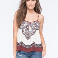 Scarf Border Womens Swing Tank Multi  In Sizes