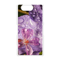 Wet Flower White Hard Plastic Case for Sony Xperia Z3 Mini by Mick Agterberg