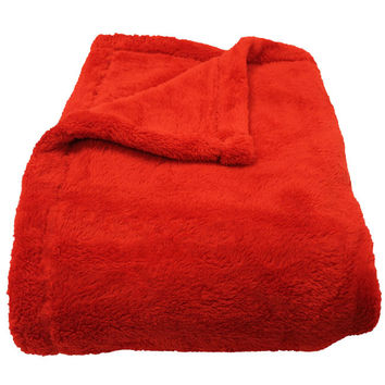 Bobbi Ruby Microfiber Throw