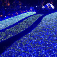 3*2m 192 garden Led Mesh net fairy string light RGB christmas holiday festival outdoor wedding decor lights 220V AC