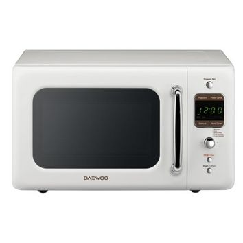 Daewoo 0.7 Cu. Ft. Retro Microwave Oven, Cream White - Walmart.com