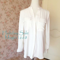 MT04 Victory -Women Clothing Shirt Blouse long sleeve shirt Formal White Shirt Blouse for office lady wear by magic1668 design