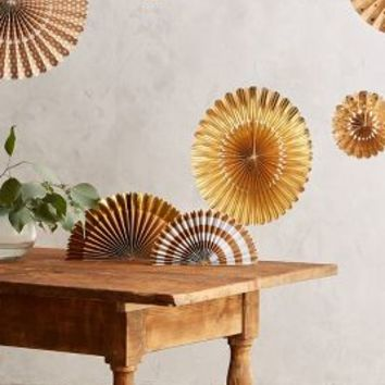 Kraft Paper Party Fans by Anthropologie in Brown Size: Set Of 8 Gifts