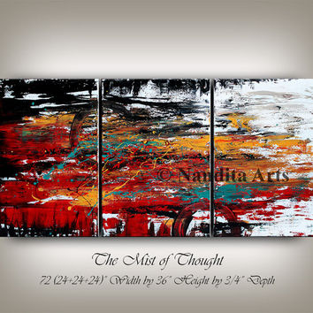 Original painting MODERN FINE ART Abstract contemporary art fine art gallery oil paintings large huge Wall Art for sale online by Nandita