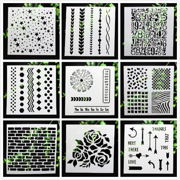 1Sheet Plastic Layering Stencils for DIY scrapbooking photo album Decorative Crafts Planner