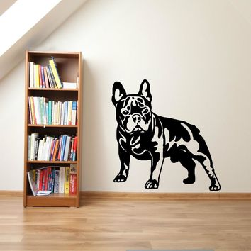 Cutom Color FRENCH BULLDOG DOG vinyl wall art sticker decal living Room Sticker Muraux Animal Wallpaper Home Decor Mural D430