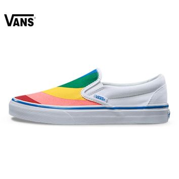 Original New Arrival Vans Women's Classic Slip-On Low-top Skateboarding Shoes Sport Outdoor Canvas Sneakers VN0A38F79NK