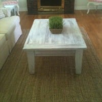 Beach washed coffee table