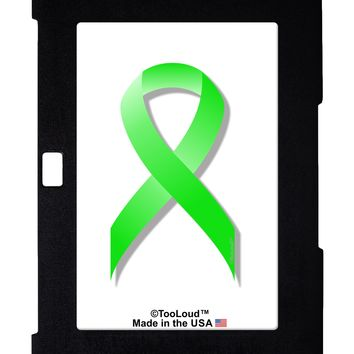 Lyme Disease Awareness Ribbon - Lime Green Galaxy Note 10.1 Case  by TooLoud