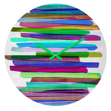 Mareike Boehmer Colorful Stripes 3 Round Clock