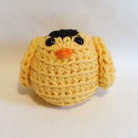 Amigurumi Crocheted Bird - Yellow Gold FINCH - Pin cushion - Window ledge - Ornament - Birthday Gift - Friendship - Book Shelf -KnottyMonkey