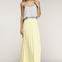 Day Trip Maxi Dress - Yellow and Gray