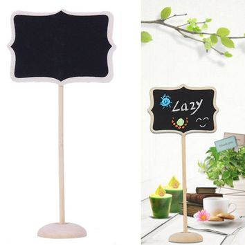 12pc Blackboard Message Sign for Wedding, Party, or Back to School- Different Shapes Available