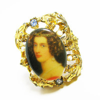 Vintage Ring, Baroque Style - Bague de Strass. Vintage Jewelry by My Chouchou on Etsy.