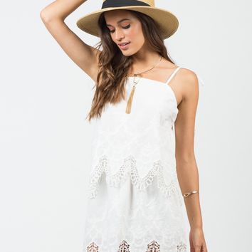 Embroidered Tiered Dress - Large