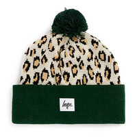 Hype Camo Leopard Beanie* - Branded Accessories  - Shoes and Accessories