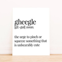Printable Art Gheegle Definition Typography Poster Home Decor Apartment Decor