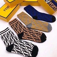 Fendi Woman Cotton Knitwear Socks Stockings