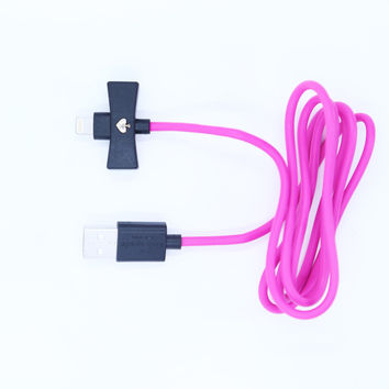 Kate Spade New York Charger/Lightening Cable - Pink/Black Ends